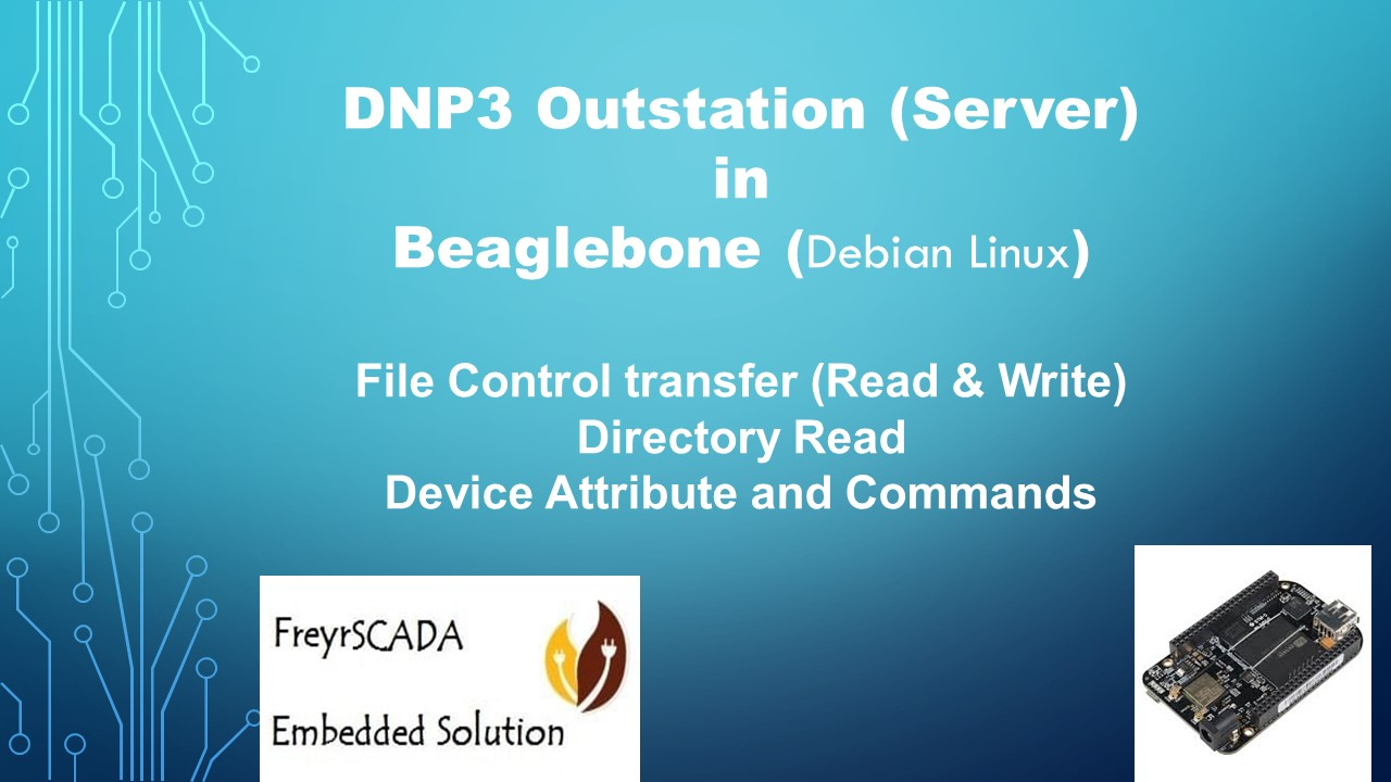 DNP3 Outstation (Server) in Beaglebone arm Debian Linux