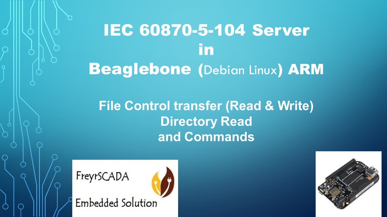 IEC 104 Server Beaglebon Arm Linux